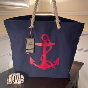 Bass Anchor Tote with Clear Zip Pouch